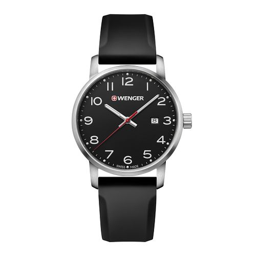 Wenger Avenue Men's Black Silicone Strap Watch - Product number 8368198