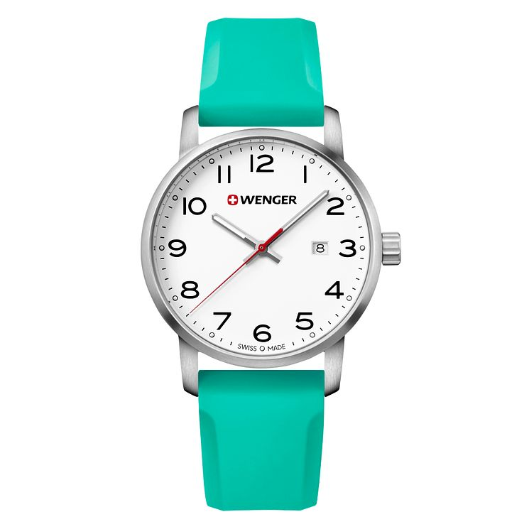 Wenger Avenue Men's Green Silicone Strap Watch - Product number 8368252
