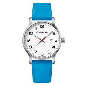 Wenger Avenue Men's Blue Silicone Strap Watch - Product number 8368260