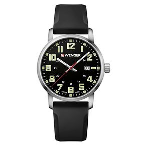 Wenger Avenue Men's Black Silicone Strap Watch - Product number 8368279