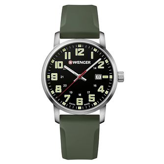 Wenger Avenue Men's Green Silicone Strap Watch - Product number 8368295