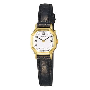 Lorus Ladies' Black Leather Strap Watch - Product number 8376727