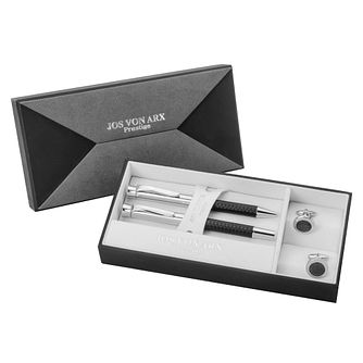 Jos Von Arx Carbon Fibre Pen & Cufflink Gift Set - Product number 8376867
