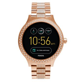Fossil Q Ladies' Rose Gold Tone Bracelet Smartwatch - Product number 8382956