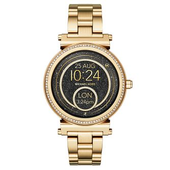 Michael Kors Access Sofie Yellow Gold Tone Smartwatch - Product number 8388296