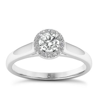 The Diamond Story 18ct White Gold 0.33ct Round Halo Ring - Product number  8388393