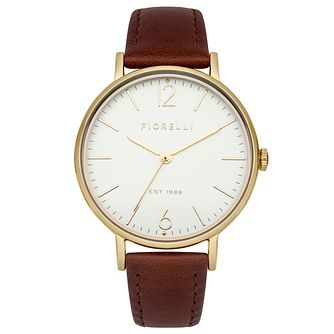 Fiorelli Ladies' Brown Leather Strap Watch - Product number 8389594