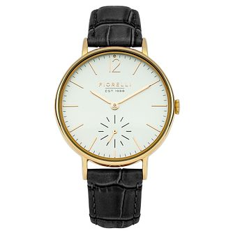 Fiorelli Ladies' Black Leather Strap Watch - Product number 8389624