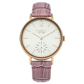 Fiorelli Ladies' Pink Leather Strap Watch - Product number 8389640