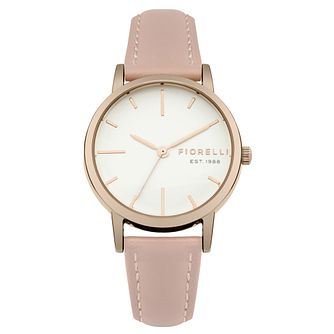 Fiorelli Ladies' Pink PU Strap Watch - Product number 8389683