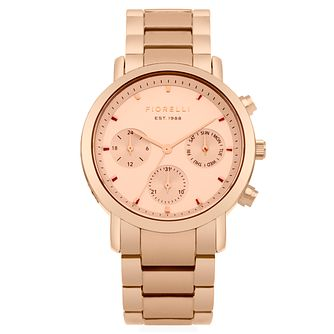 Fiorelli Ladies' Rose Gold Alloy Bracelet Watch - Product number 8389713
