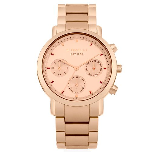 Fiorelli Ladies' Rose Gold Bracelet Watch - Product number 8389713