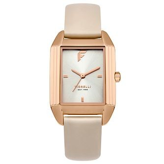 Fiorelli Ladies' Cream Leather Strap Watch - Product number 8389721