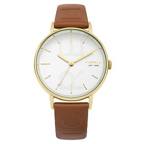 Fiorelli Ladies' Brown PU Strap Watch - Product number 8389799