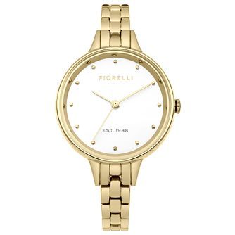 Fiorelli Ladies' Gold Alloy Bracelet Watch - Product number 8389829