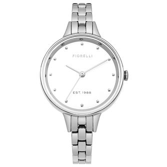 Fiorelli Ladies' Silver Stainless Steel Bracelet Watch - Product number 8389837