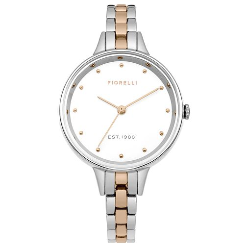 Fiorelli Ladies' Two Tone Stainless Steel Bracelet Watch - Product number 8389845