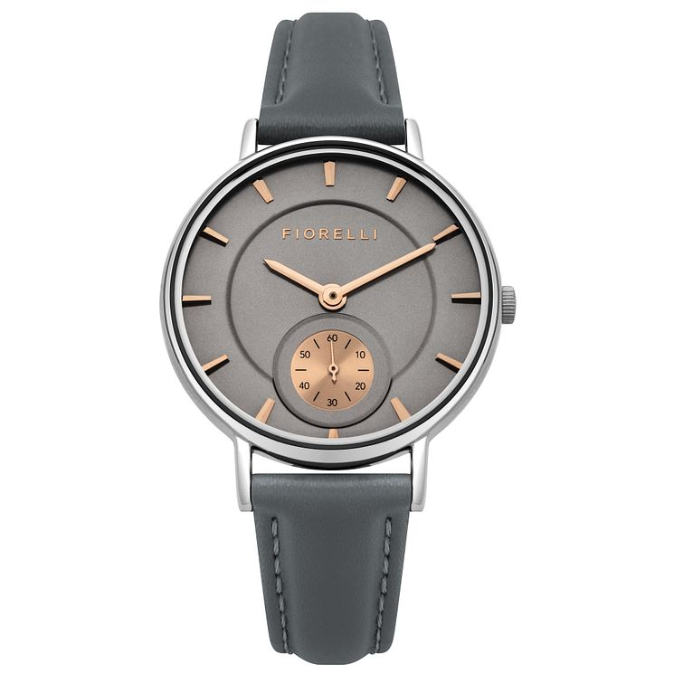 Fiorelli Ladies' Grey PU Strap Watch - Product number 8389853