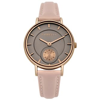 Fiorelli Ladies' Pink PU Strap Watch - Product number 8389861