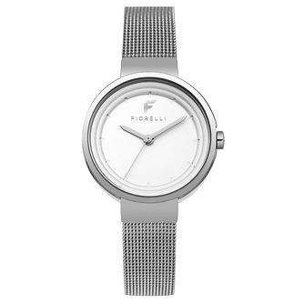 Fiorelli Ladies' Silver Mesh Strap Watch - Product number 8389918