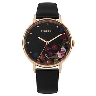 Fiorelli Ladies' Black PU Strap Watch - Product number 8389926