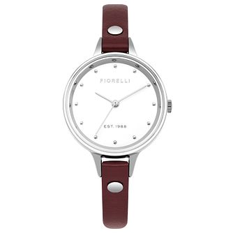 Fiorelli Ladies' Red PU Strap Watch - Product number 8389950