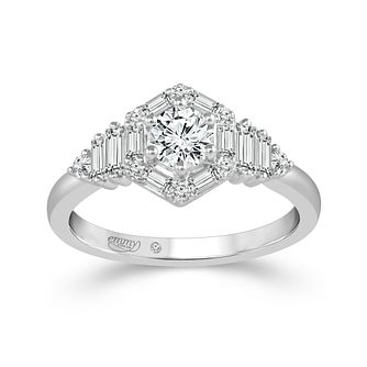 Emmy London Palladium 3/4 Carat Diamond Halo Ring - Product number 8390339