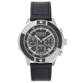 Versus Versace Men's Black Leather Strap Watch - Product number 8391157