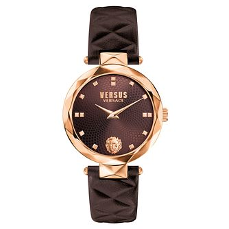 Versus Versace Ladies' Brown Leather Strap Watch - Product number 8391319