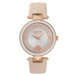 Versus Versace Ladies' Champagne Leather Strap Watch - Product number 8391386