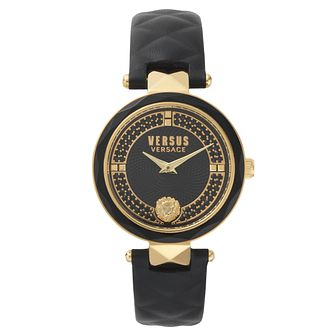 Versus Versace Ladies' Black Leather Strap Watch - Product number 8391394