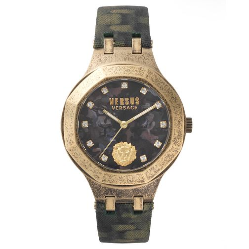 Versus Versace Ladies' Green Leather Strap Watch - Product number 8391564