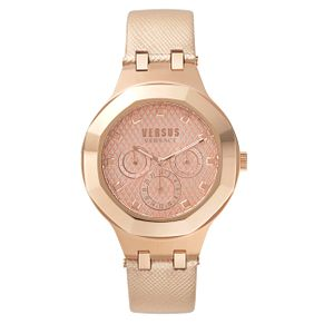 Versus Versace Ladies' Rose Gold Leather Strap Watch - Product number 8391602