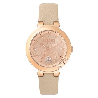 Versus Versace Ladies' Rose Gold Leather Strap Watch - Product number 8391653
