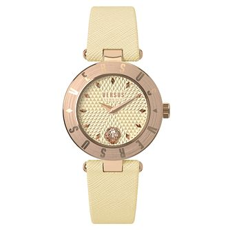 Versus Versace Ladies' Cream Leather Strap Watch - Product number 8391858