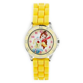 Disney Belle Children's Yellow Rubber Strap Watch - Product number 8391890
