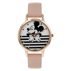 Disney Mickey Mouse Pink PU Strap Watch - Product number 8391947
