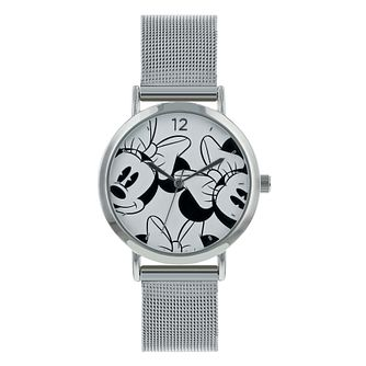 Disney Minnie Mouse Silver Mesh Strap Watch - Product number 8391971