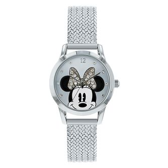 Disney Minnie Mouse Silver Mesh Strap Watch - Product number 8391998
