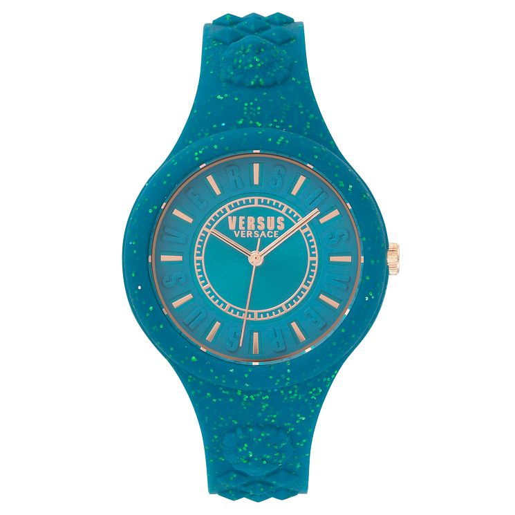 Versus Versace Ladies' Teal Silicone Strap Watch - Product number 8392684
