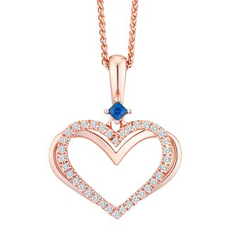 Vera Wang Kindred Heart 18ct Rose Gold Diamond Pendant - Product number 8395306
