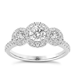 The Diamond Story Platinum 1 Carat Triple Halo Ring - Product number 8395772