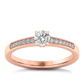 The Diamond Story 18ct Rose Gold 0.25ct Diamond Ring - Product number 8396299