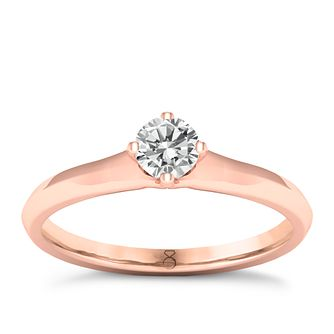 The Diamond Story 18ct Rose Gold 0.20ct Solitaire Ring - Product number 8396728