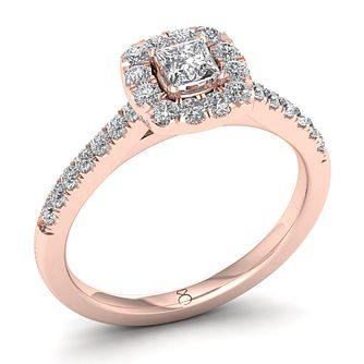 The Diamond Story 18ct Rose Gold 0.66ct Diamond Ring - Product number 8398925