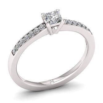 Engagement the diamond story platinum jewellery ernest jones the diamond story platinum 033ct princess cut ring product number 8399956 junglespirit Gallery