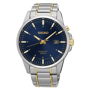 Seiko Kinetic Men's Two Tone Stainless Steel Bracelet Watch - Product number 8400768