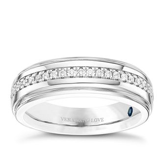 Vera Wang Men's Platinum 0.23ct Diamond Band - Product number 8402078