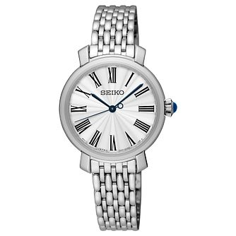 Seiko Ladies' Stainless Steel White Bracelet Watch - Product number 8402434