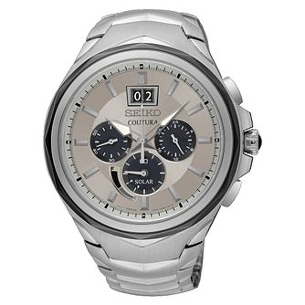 Seiko Coutura Men's Stainless Steel Chronograph Watch - Product number 8402507